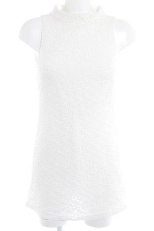 Zara Basic Midikleid wollweiß florales Muster Romantik-Look