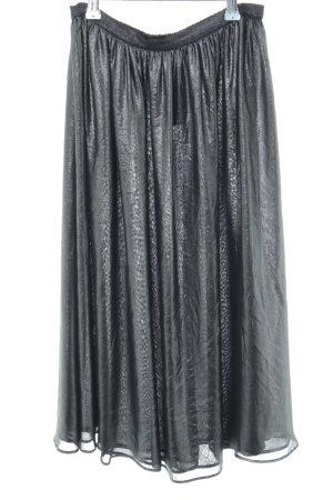 Zara Basic Midirock hellgrau Elegant