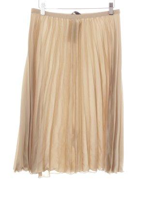 Zara Basic Midirock beige Casual-Look