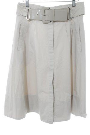 Zara Basic Midirock hellbeige Casual-Look