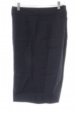Zara Basic Midirock schwarz klassischer Stil