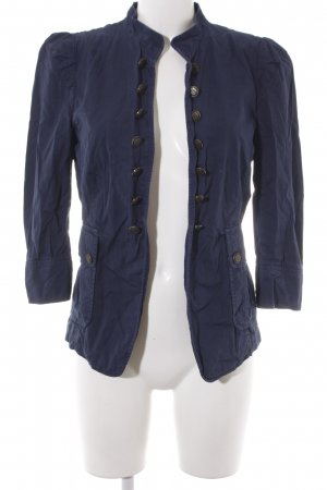 Zara Basic Giacca militare blu scuro stile casual