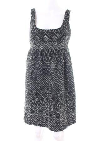Zara Basic Minikleid schwarz-weiß Allover-Druck Casual-Look