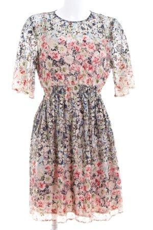 Zara Basic Minikleid Blumenmuster Elegant
