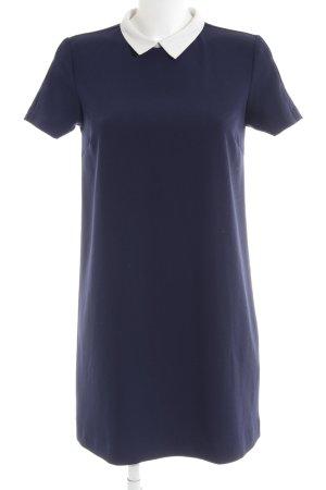 Zara Basic Minikleid dunkelblau-weiß Elegant