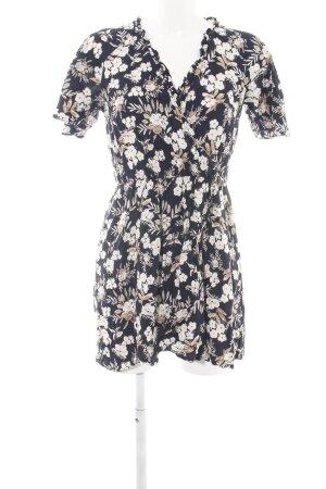 Zara Basic Minikleid schwarz-wollweiß Allover-Druck Casual-Look