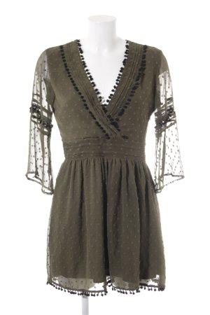 Zara Basic Minikleid grüngrau-schwarz Casual-Look