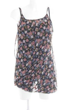 Zara Basic Minikleid rosa florales Muster Casual-Look