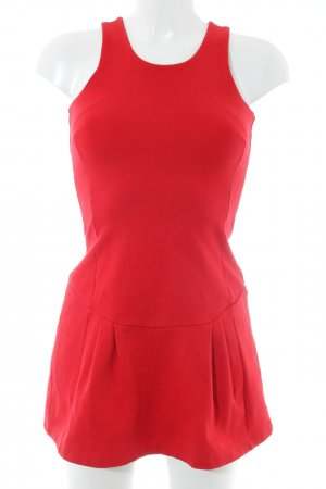 Zara Basic Minikleid rot Casual-Look