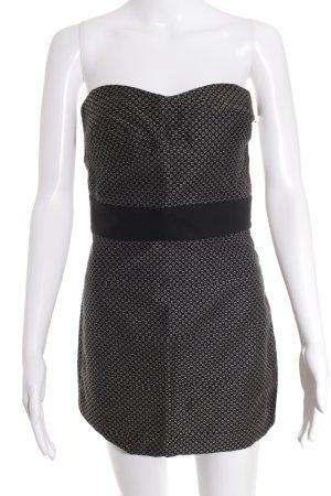 Zara Basic Minikleid schwarz-graubraun Punktemuster extravaganter Stil