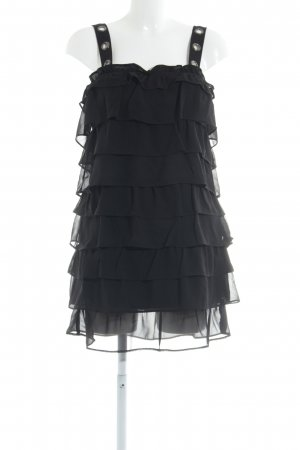 Zara Basic Mini-jurk zwart feest stijl