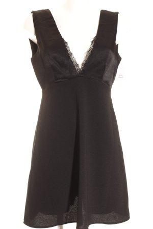 Zara Basic Minikleid schwarz Party-Look