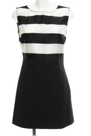 Zara Basic Minikleid schwarz-weiß Streifenmuster Party-Look
