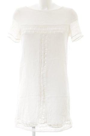 Zara Basic Minikleid weiß Romantik-Look
