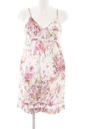 Zara Basic Minikleid weiß-rosa Blumenmuster Romantik-Look