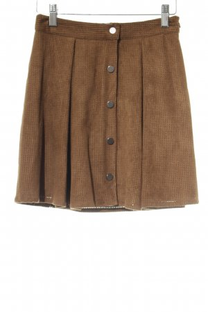 Zara Basic Minirock cognac Casual-Look