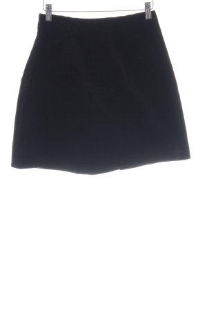 Zara Basic Minirock dunkelblau Casual-Look