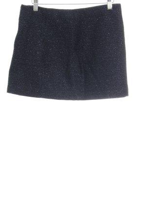 Zara Basic Minirock dunkelblau Glitzer-Optik