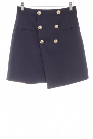 Zara Basic Minirock dunkelblau Metallknöpfe