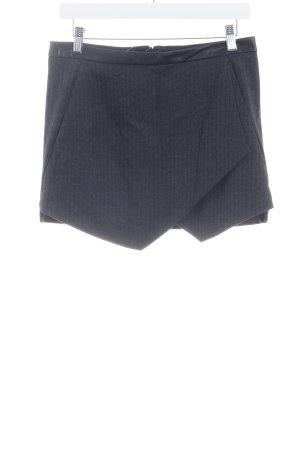 Zara Basic Mini rok donkergrijs-antraciet zigzag patroon zakelijke stijl
