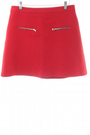 Zara Basic Minirock rot Casual-Look