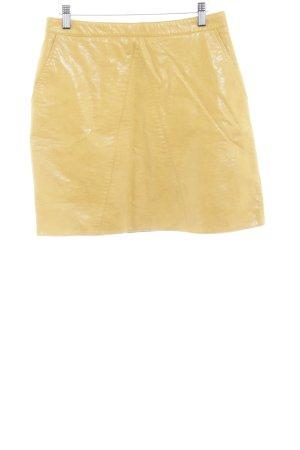 Zara Basic Mini rok goud Oranje wetlook