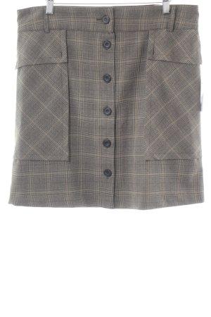 Zara Basic Minirock graubraun Karomuster Brit-Look