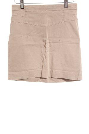 Zara Basic Minirock hellbraun-camel Street-Fashion-Look