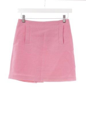 Zara Basic Minirock pink Karomuster Paris-Look