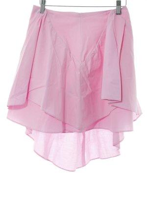 Zara Basic Mini rok roze romantische stijl