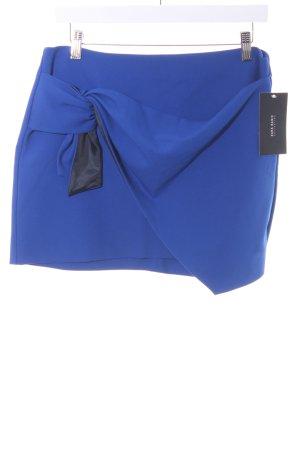 Zara Basic Minirock schwarz-blau Elegant