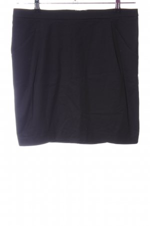Zara Basic Minirock schwarz Business-Look