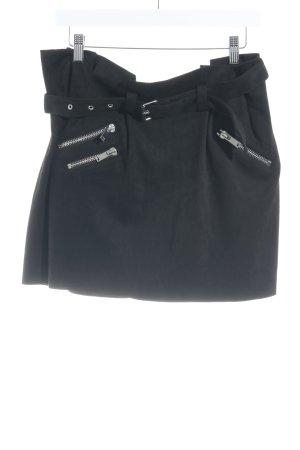 Zara Basic Mini rok zwart casual uitstraling