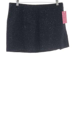Zara Basic Minirock schwarz-dunkelblau Streifenmuster Casual-Look