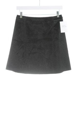 Zara Basic Minirock schwarz Kuschel-Optik