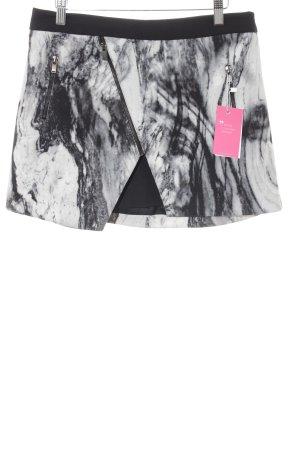 Zara Basic Minirock schwarz-weiß abstraktes Muster Casual-Look