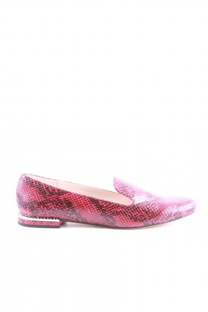 Zara Basic Mocassins noir-rose motif animal style décontracté