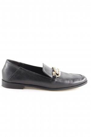 Zara Basic Moccasins black-gold-colored casual look