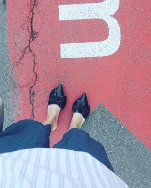 Zara Basic Mules Pantolette Pantoffel Slipin Bow Schleife 40
