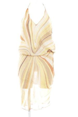 Zara Basic Neckholderkleid abstraktes Muster klassischer Stil