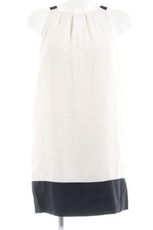 Zara Basic Neckholderkleid creme-schwarz klassischer Stil