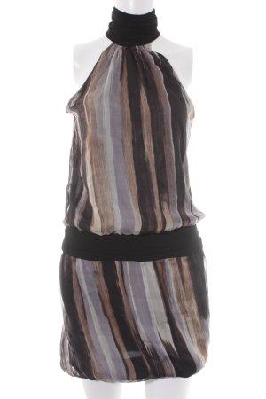 Zara Basic Vestido de cuello Halter estampado con puntos de colores elegante