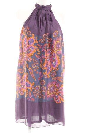 Zara Basic Neckholderkleid florales Muster Casual-Look