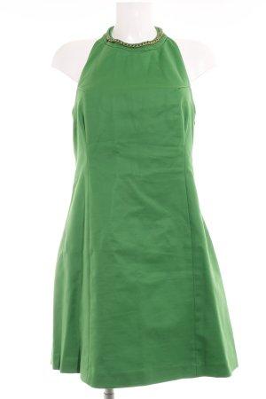 Zara Basic Neckholderkleid grün Elegant