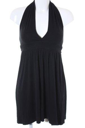 Zara Basic Neckholderkleid schwarz Casual-Look