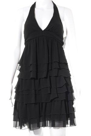 Zara Basic Neckholderkleid schwarz Party-Look