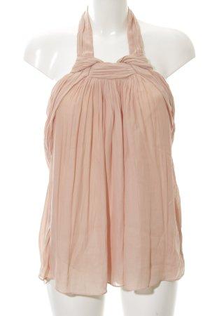 Zara Basic Haut à nouer autour du cou rose chair élégant