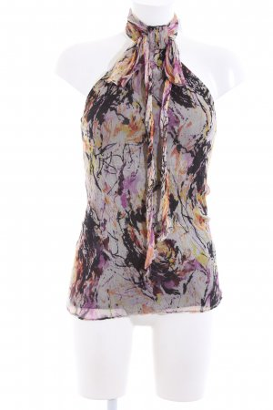 Zara Basic Halter Top abstract pattern casual look