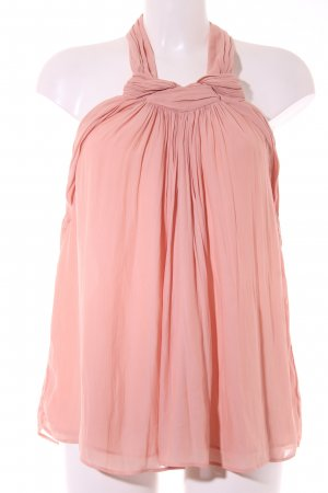 Zara Basic Top senza maniche albicocca elegante