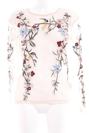 Zara Basic Netzshirt apricot Casual-Look